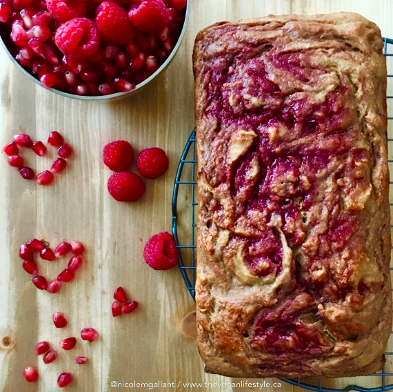 Vegan Peanut Butter and Raspberry Pomegranate Jelly Loaf